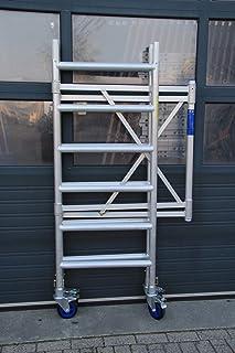 Andamio plegable aluminio D75-6 APW completo con plataforma sin trampilla 190