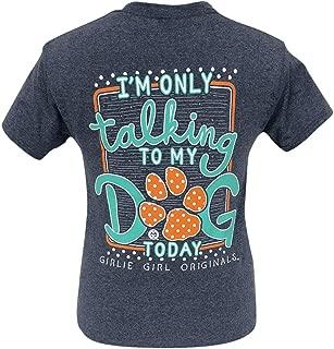 Girlie Girl Originals My Dog Today Heather Navy Short Sleeve T-Shirt