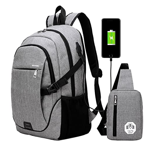SUPA MODERN® Unisex Nylon School Backpack with USB Charger Port Laptop Bag  for Teen Girls 24677414d0