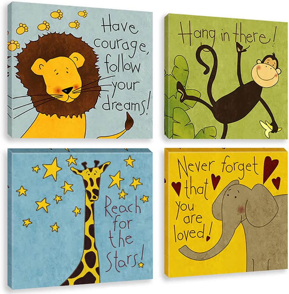 Biufo Jungle Animals Wall Art Luxury Print Challenge the lowest price of Japan Quotes Canvas Inspirational
