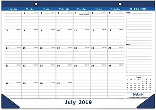 Nekmit 2019-2020 Monthly Desk Pad Calendar, July 2019 - December 2020, 16-3/4 x 11-4/5 Inches, Blue