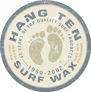 "Desperate Enterprises Hang Ten Surf Wax Tin Sign, 11.75"" Diameter"