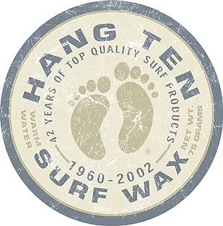 Desperate Enterprises Hang Ten Surf Wax Tin Sign, 11.75