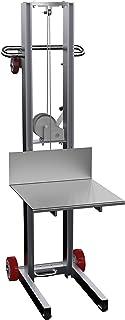"Vestil ALLW-2020-FW Aluminum Lite Load Lift Winch, 3-1/4"" - 58"" Height Range, 20"" Length x 20"" Width Platform, 400 lbs Capacity"