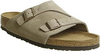 Birkenstock Zurich Unisex Soft Footbed Taupe Suede Sandals 43 (US Men's 10-10.5 / US Women's 12-12.5)