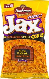 Bachman Jax Cheddar Cheese Puffed Curls 9.75 Oz Bags (4 Bags)