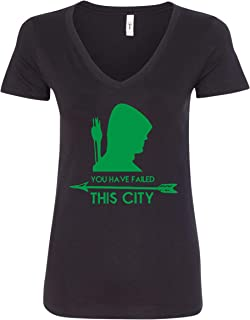 You Have Failed This City V-Neck T-Shirt - Black Design New