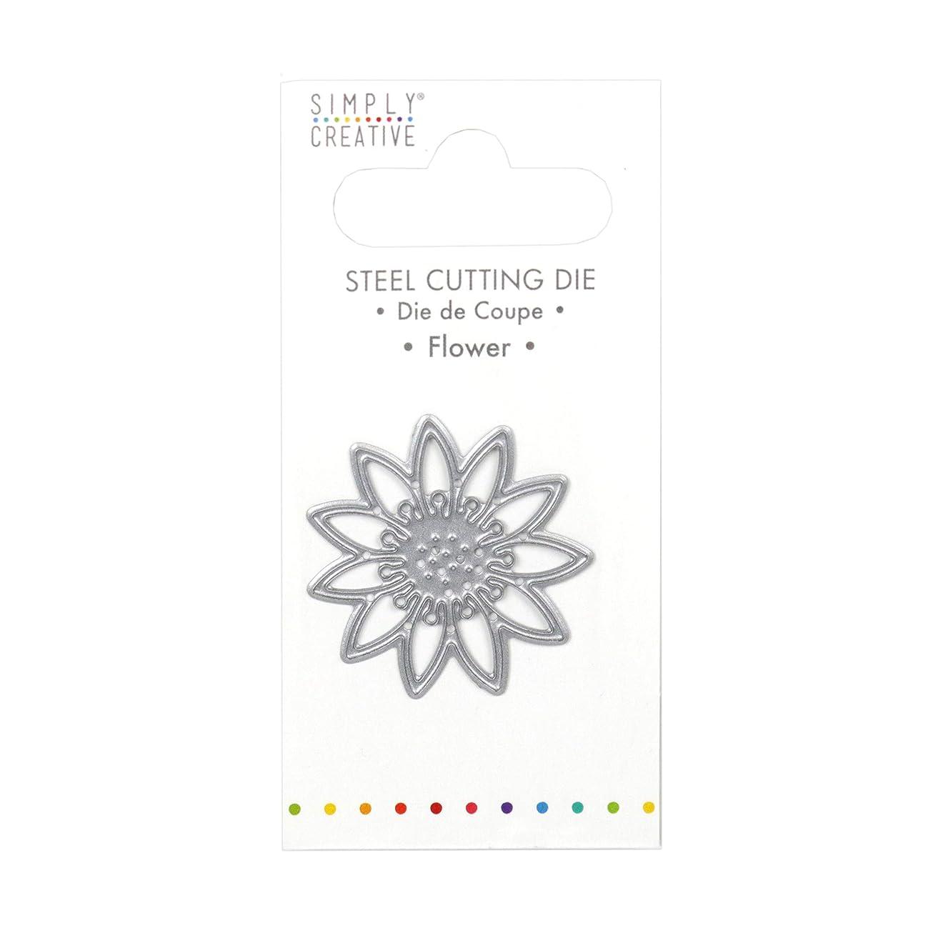 Simply Creative Dies-Flower, Silver, 1