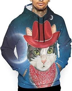 Unisex Space Cowboy Cat Hoodies Cool Pullover Hood Jackets Sweatshirt