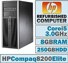 HP Compaq 8200 Elite CMT/Core i5-2400 @ 3.1 GHz/8GB DDR3/250GB HDD/DVD-RW/WINDOWS 7 PRO 64 BIT