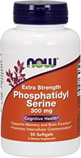 NOW Supplements, Phosphatidyl Serine 300 mg, Extra Strength, with Phospholipid compound derived from Soy Lecithin, 50 Soft...