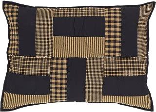 VHC Brands Classic Country Primitive Bedding - Delaware Black Sham, Standard