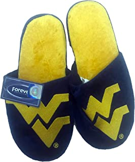 Forever West Virginia Mountaineers Mens Team Logo Slippers