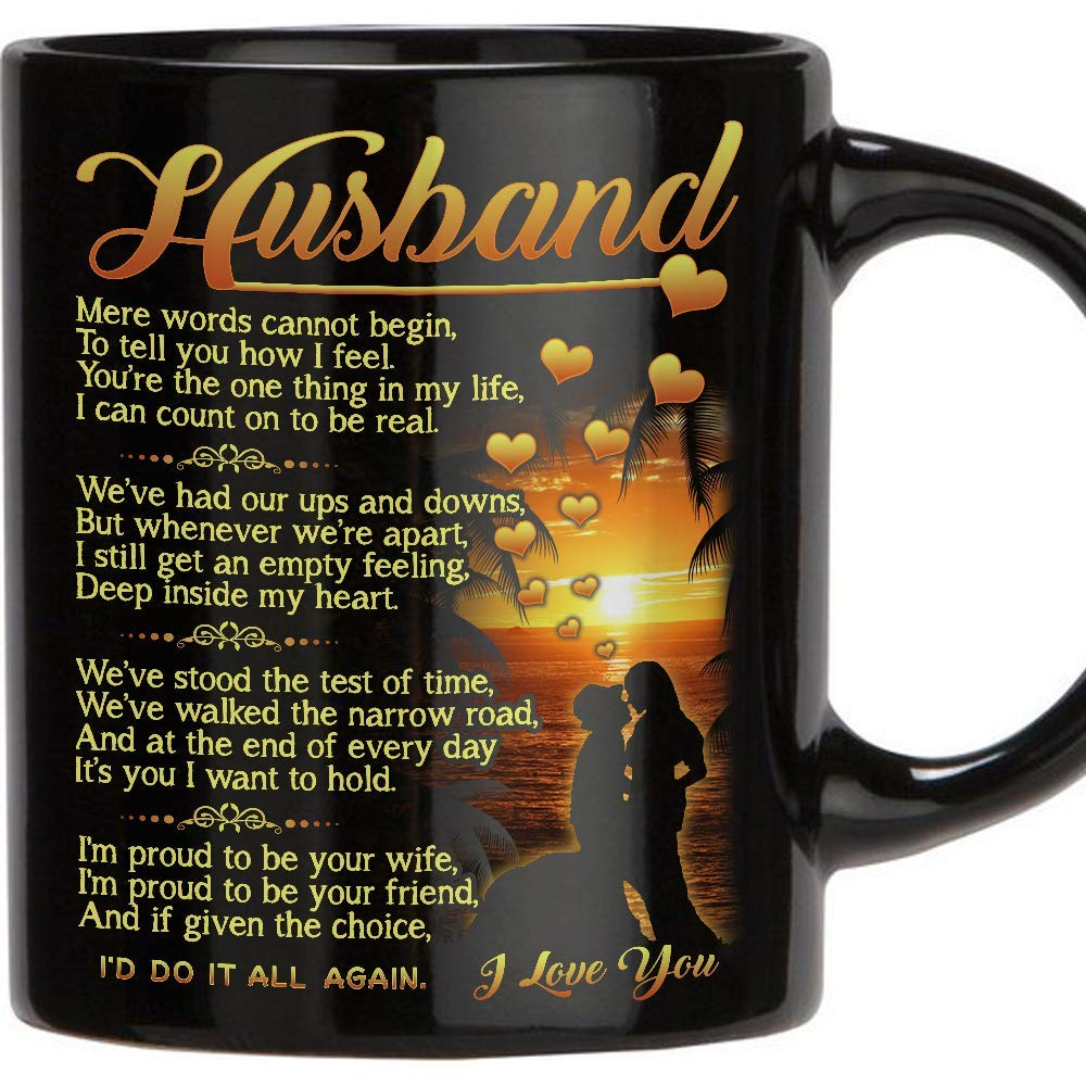 Perfect Gift For Husband - 11 Oz Novelty Ceramic Coffee Mug | Romantic Love Wedding  sc 1 st  Amazon.com & Birthday Gift for Husbands: Amazon.com