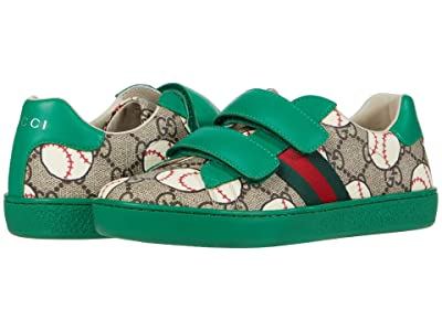 Gucci Kids New Ace V.L. Sneakers (Little Kid) (Beige/Ebony) Boy