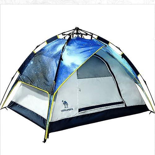 Tente de camping en plein air gratuit mis en place à la périphérie de la plage de snap-ouverte de camping tente 3-4 couchette tente Saisons