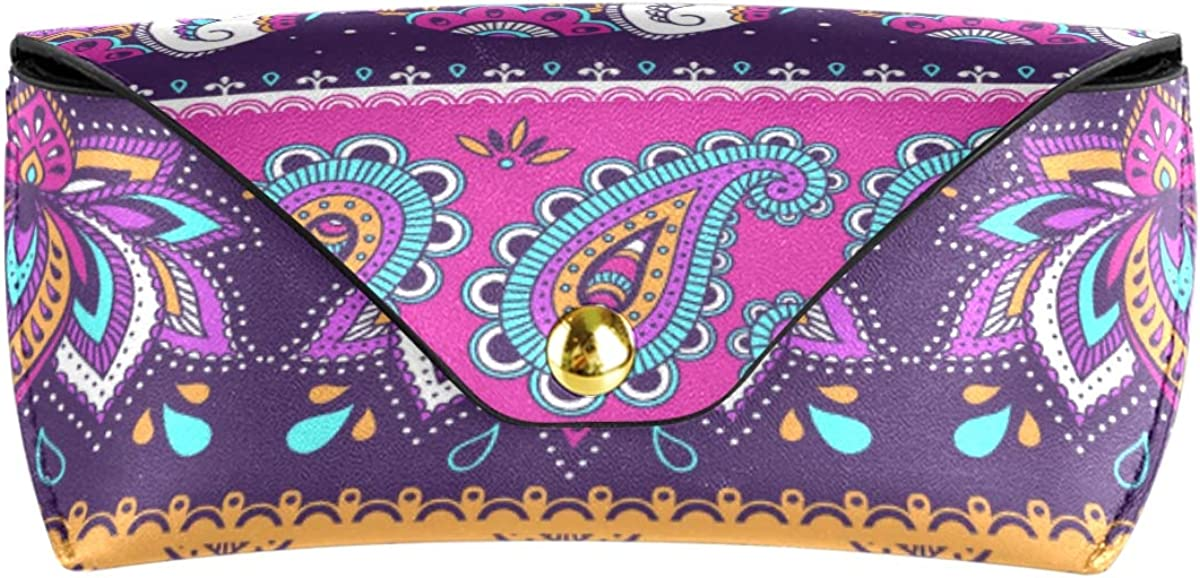 Seamless Colorful Elephant Pattern Goggles Bag Multiuse Portable Wallet PU Leather Sunglasses Case Eyeglasses Pouch