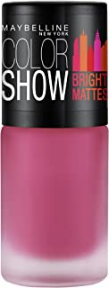 Maybelline New York Colour Show Bright Matte Nail Paint, Merry Fuschia Pink, 6ml