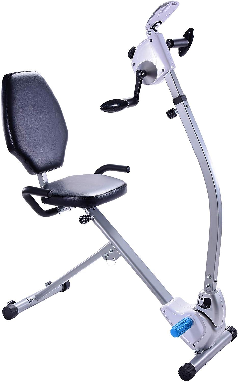 Stamina Seated Upper Body Exercise Bike, Gray