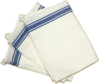 Aunt Martha's 18-Inch by 28-Inch Package of 3 Vintage Dish Towels, Blue Striped (PKSTB)