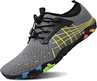 kealux Men Women Barefoot Quick-Dry Water Sports Shoes Multifunctional Sneakers with Drainage Holes for Swim, Walking, Yog...