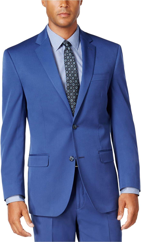 Sean John Mens Classic Two Button Blazer Jacket, Blue, 50 Regular