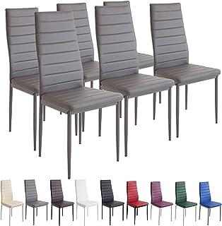 YIZHE 6X Set de sillas Cantilever,Juegos de Muebles, Sillas de Salón Comedor Modernas,8 Piezas Sillas de Comedor Sillas de Oficina Conferencia, para Oficina, Cocina, Dormitorio