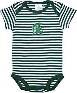Michigan State University Spartans Striped Baby Bodysuit