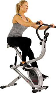 Sunny Health & Fitness 2-in-1 Dual Action Rider Bike Gray