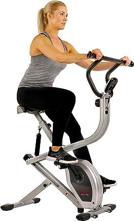 Sunny Health & Fitness Bicicleta Vertical de Ejercicio Máquina de Remo Plegable 2 en 1 SF-B2620 de