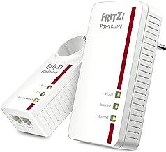 AVM FRITZ!Powerline 1260E WLAN Set International - Adaptador/extensor de red por línea eléctrica, PLC, IEEE P1901, 1200 Mbps, base WiFi AC integrada, Mesh, 1 puerto Gigabit, interfaz en Español