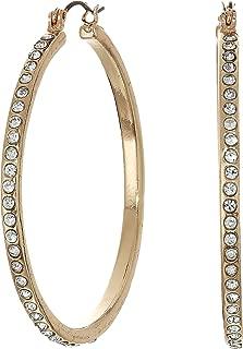 GUESS Women's Rhinestone Hoop Earrings