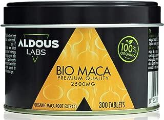 Extracto de Maca Andina Ecológica Premium para 9 meses - 300 comprimidos de 2500mg - Altamente concentrada 10:1 - Aumenta Energía y Vitalidad - Libre de Plástico - Certificación Ecológica Oficial