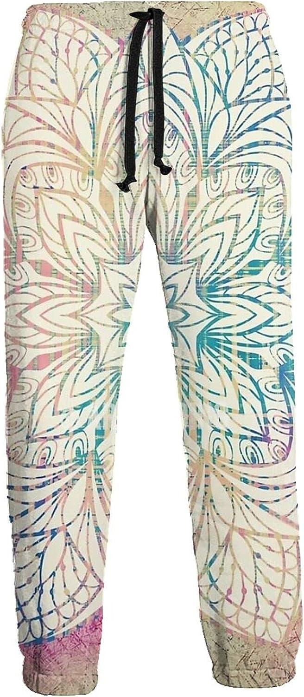 Men's Women's Sweatpants Boho Mandala Vintage Athletic Running Pants Workout Jogger Sports Pant