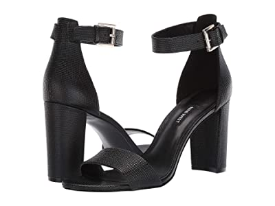 Nine West Nora Block Heeled Sandal (Black) Women