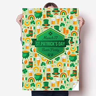Clover Beer Rainbow Ireland St.Patrick's Day Sticker Poster Decal 31x22