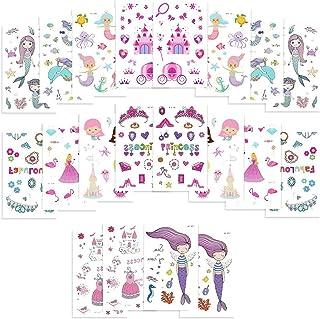 Dadabig 20 ark färgade sjöjungfruklistermärken Tillfällig tatuering Sjöjungfru tatueringar Vattentät sjöjungfru tillfällig...