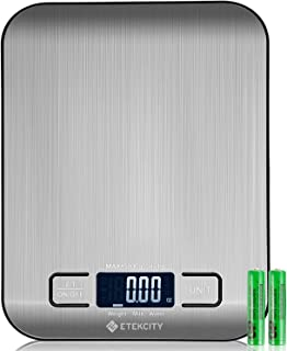 Etekcity Food Kitchen Digital Scale Grams and Ounces, Portable, Stainless Steel