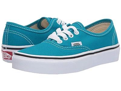 Vans Kids Authentic (Little Kid) (Caribbean Sea/True White) Kids Shoes