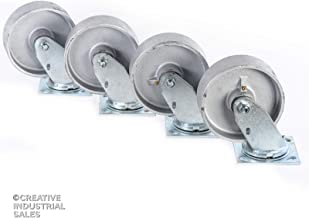 6 inch steel casters
