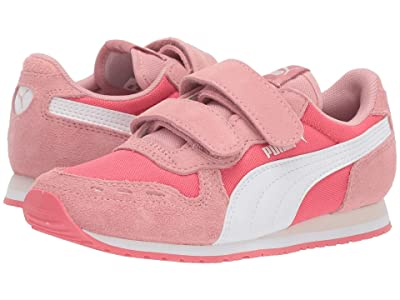 Puma Kids Cabana Racer NL V (Little Kid) (Calypso Coral/Bridal Rose/PUMA White) Girls Shoes