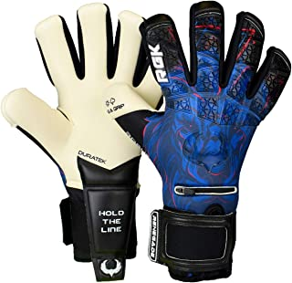 Renegade GK Limited Edition Rogue Soccer Goalie Gloves with Microbe-Guard (Sizes 6-11, Level 4+) Pro-Tek Fingersaves & 4+3...