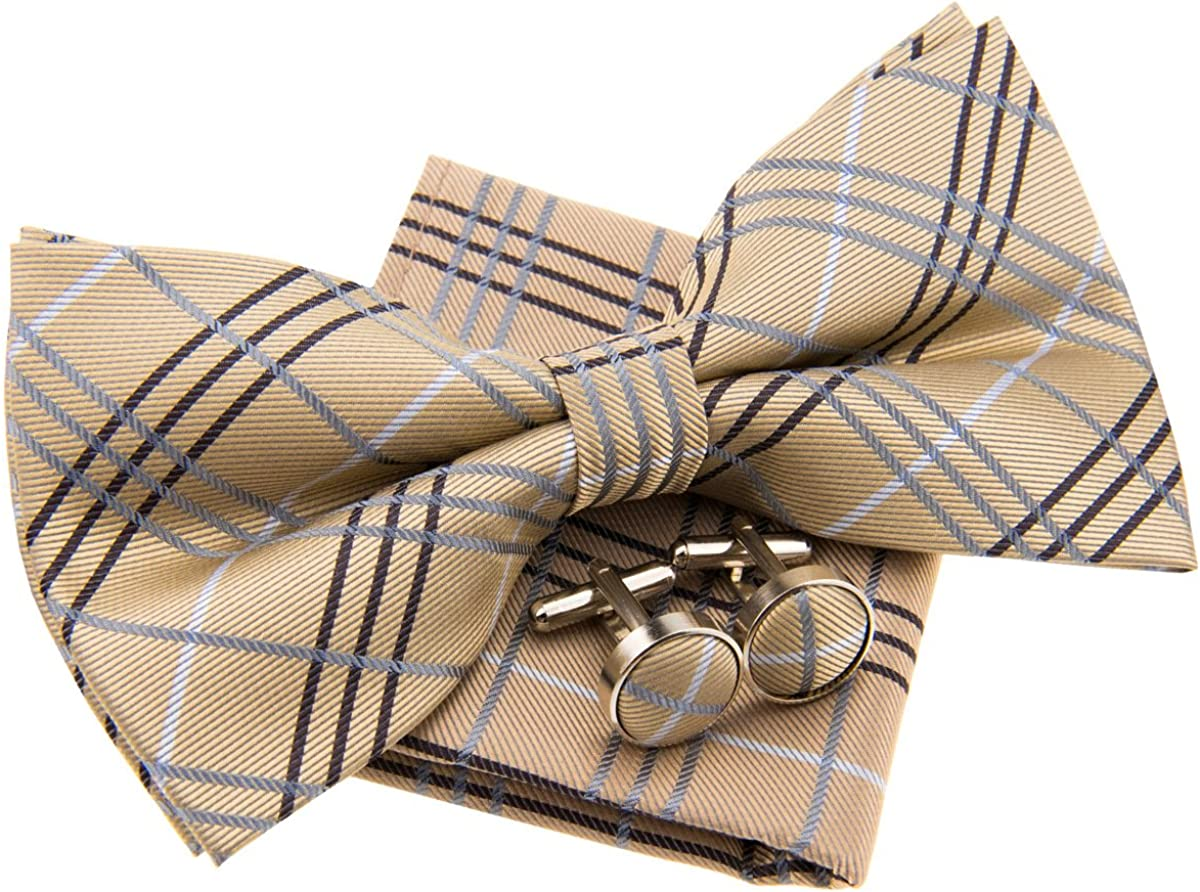 Tartan Plaid Check Styles safety Woven Pre-tied 5