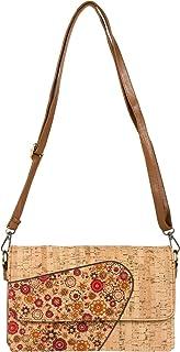 styleBREAKER Damen 2 in 1 Umhängetasche aus Kork mit buntem Muster Print im Ethno Look, Clutch Tasche, Schultertasche 0201...