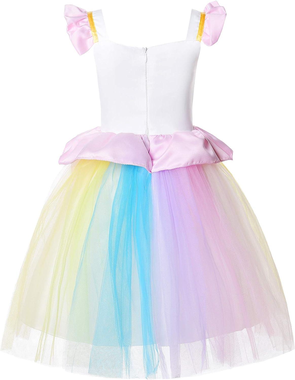 JerrisApparel Girl Unicorn Costume Unicorn Birthday Party Wedding Tutu Dress
