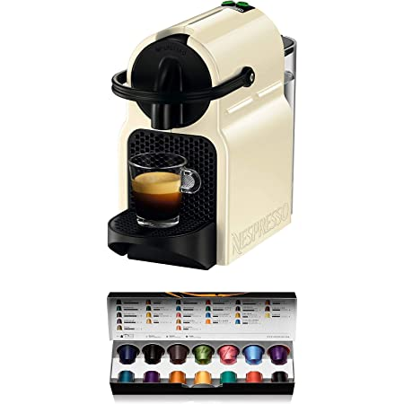 Nespresso Inissia Macchina per caffé espresso, a capsule, 1260 W, 0.7 L, Beige (Vanilla Cream)