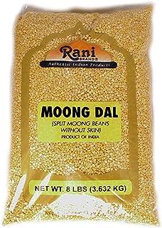 Rani Moong Dal (Split Mung Beans without skin) Lentils Indian 8lbs (128oz) Bulk ~ All Natural | Gluten Free Ingredients | NON-GMO | Vegan