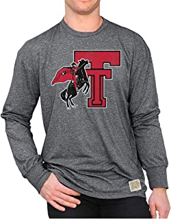 Elite Fan Shop NCAA Mens Retro Long Sleeve Shirt Soft Charcoal Gray