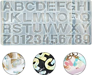 Alphabet Resin Mold,Silicone Letter & Number Resin Casting Molds Epoxy Molds DIY Making Tool for Earring Keychain Jewelry Accessory �