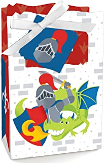Big Dot of Happiness Calling All Knights and Dragons - Medieval Party or Birthday Party Favor Boxes - Set of 12